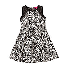 Buy Derhy Kids Marinella Floral Dress, Black/White Online at johnlewis.com