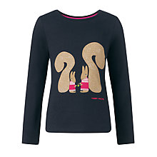 Buy Donna Wilson for John Lewis Squirrel Long Sleeve T-Shirt, Navy Online at johnlewis.com