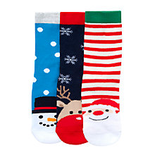 Buy John Lewis Children's Christmas Toe Socks Online at johnlewis.com