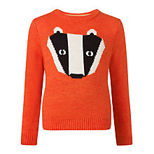 Buy Donna Wilson for John Lewis Boys' Badger Jumper, Orange Online at johnlewis.com