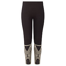 Buy Donna Wilson for John Lewis Girls' Cat Leggings, Black Online at johnlewis.com