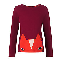 Buy Donna Wilson for John Lewis Boys' Fox Long Sleeve T-Shirt, Burgundy Online at johnlewis.com