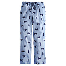 Buy Joules Labrador Print Lounge Trousers, Blue Online at johnlewis.com