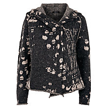 Buy Crea Concept Knitted Jacket, Black Online at johnlewis.com