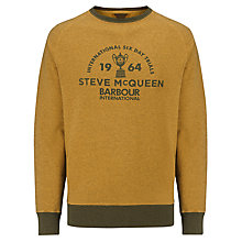 Buy Barbour International Steve McQueen™ Collection Bartlett Crew Neck Jumper, Cinnamon Online at johnlewis.com