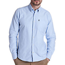 Buy Barbour Oxford Check Cotton Shirt, Sky Blue Online at johnlewis.com