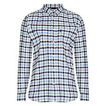 Buy Barbour Moss Check Cotton Shirt, Sea Blue Online at johnlewis.com