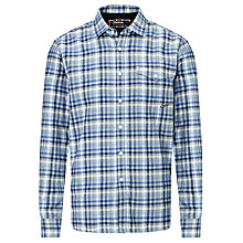 Buy Barbour International Steve McQueen™ Collection Bimota Pure Cotton Shirt, Blue Online at johnlewis.com