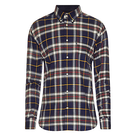 Buy Barbour Castlebay Check Cotton Shirt, Blue Online at johnlewis.com