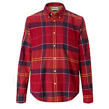 Buy Barbour John Check Cotton Shirt, Cardinal Online at johnlewis.com