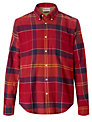 Barbour John Check Cotton Shirt, Cardinal