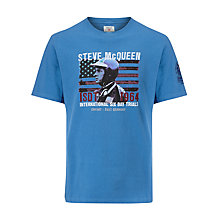 Buy Barbour International Steve McQueen™ Erfurt T-Shirt, Marine Online at johnlewis.com