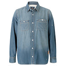 Buy Barbour International Steve McQueen™ Collection Terrence Denim Shirt, Heavy Stone Online at johnlewis.com
