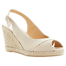 Buy Dune Galliant Slingback Canvas Espadrille Wedge Sandals Online at johnlewis.com