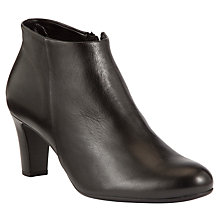 Buy Gabor Bewitch Leather Ankle Boots, Black Online at johnlewis.com