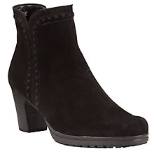Buy Gabor Alberta Nubuck Ankle Boots, Black Online at johnlewis.com
