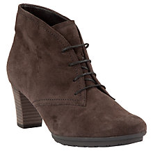 Buy Gabor Cloud Suede Ankle Boots With Laces, Grey Online at johnlewis.com