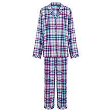 Buy John Lewis Tartan Pyjama Gift Set, Purple Online at johnlewis.com