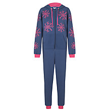 Buy John Lewis Snowflake Onesie, Navy Online at johnlewis.com