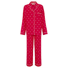 Buy John Lewis Star Print Pyjama & Sock Gift Set, Red Online at johnlewis.com