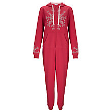 Buy John Lewis Snowflake Onesie, Red Online at johnlewis.com