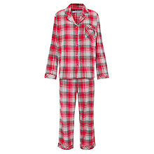 Buy John Lewis Tartan Pyjama & Socks Gift Set, Red Online at johnlewis.com
