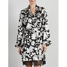 Buy Somerset by Alice Temperley Winter Floral Kimono Robe, Black / Cream Online at johnlewis.com