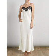 Buy Somerset by Alice Temperley Alice Lace Long Chemise, Black / Cream Online at johnlewis.com