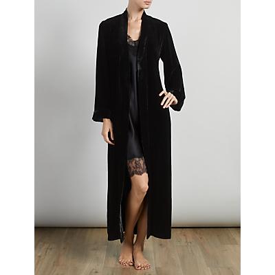 Somerset by Alice Temperley Luxury Silk Velvet Long Robe, Black