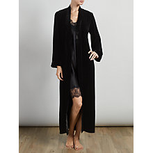 Buy Somerset by Alice Temperley Luxury Silk Velvet Long Robe, Black Online at johnlewis.com