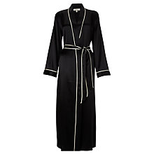 Buy Somerset by Alice Temperley Luxury Silk Long Robe, Black / Cream Online at johnlewis.com