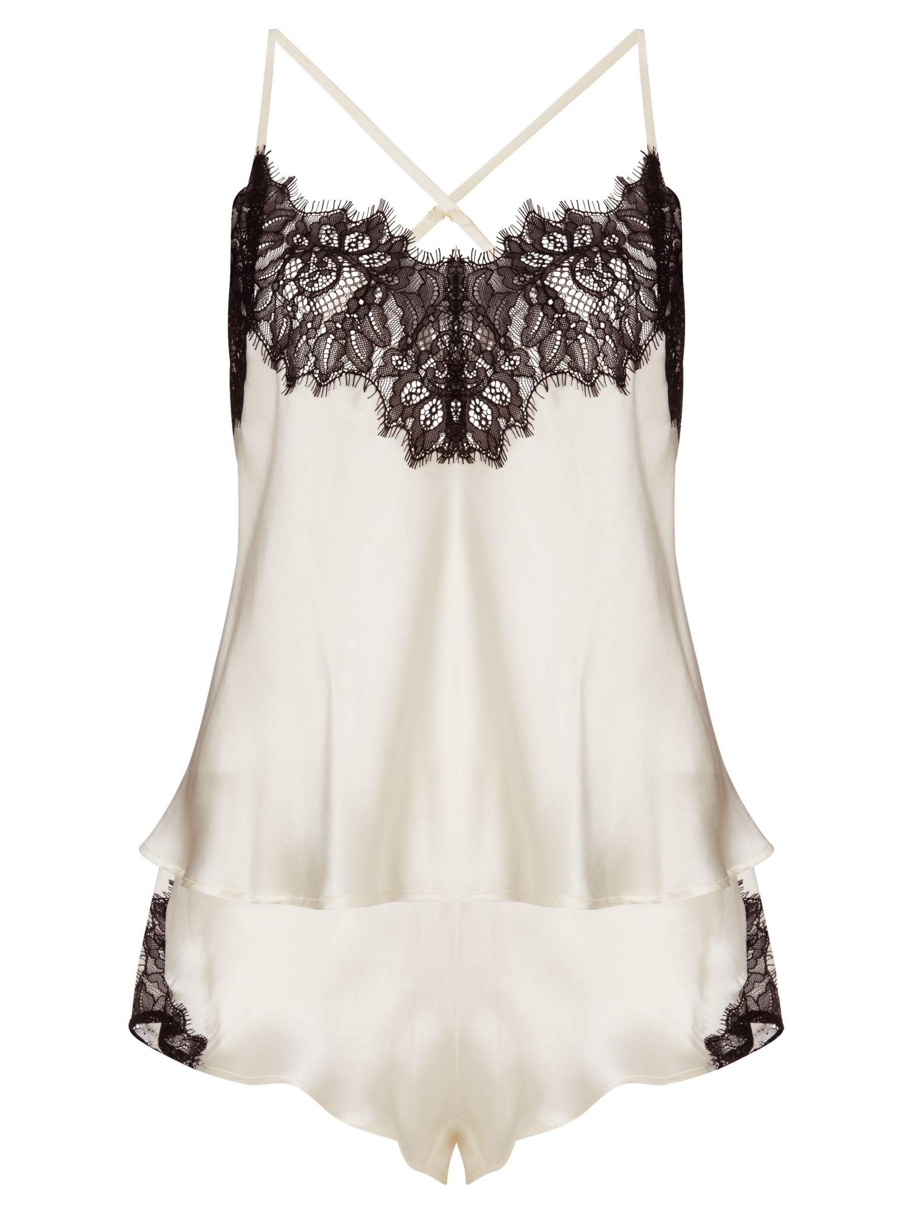 Somerset by Alice Temperley Alice Lace Cami Set, Black / Cream
