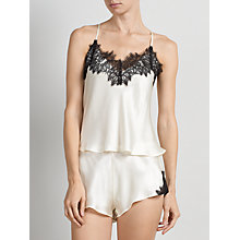 Buy Somerset by Alice Temperley Alice Lace Cami Set, Black / Cream Online at johnlewis.com