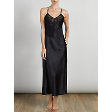 Buy Somerset by Alice Temperley Gatsby Long Chemise, Black Online at johnlewis.com