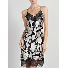 Buy Somerset by Alice Temperley Winter Floral Lace Chemise, Black / Cream Online at johnlewis.com