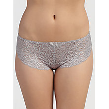 Buy John Lewis Lauren Lace Hipster Midi Briefs, Silver Online at johnlewis.com