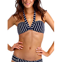 Buy Seafolly Coastline Bandeau Bikini Top, Navy Online at johnlewis.com