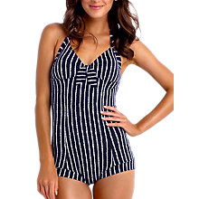 Buy Seafolly Coastline Retro Maillot Swimsuit, Navy Online at johnlewis.com