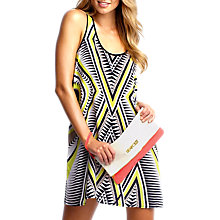 Buy Seafolly Mod Club Silk Trader Dress, Chartreuse Online at johnlewis.com