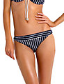 Seafolly Coastline Tie Side Bikini Bottoms, Navy