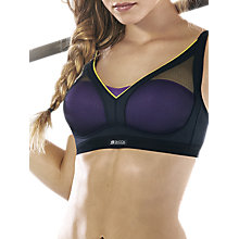 Buy Shock Absorber Active Shaped Support Sports Bra, Black / Purple Online at johnlewis.com