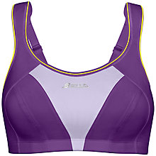 Buy Shock Absorber Active Multi Sports Support Bra, Purple / Lime Online at johnlewis.com