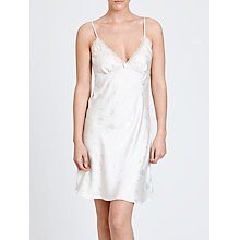 Buy John Lewis Floral Jacquard Chemise, Cream Online at johnlewis.com