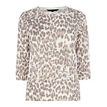 Buy Coast Animal Print Jumper, Mono Online at johnlewis.com
