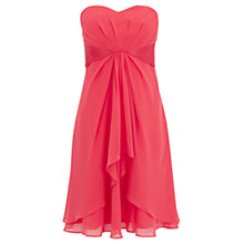 Buy Coast Michegan Short Dress, Coral Online at johnlewis.com