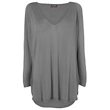 Buy Phase Eight Vivian V-Neck Jumper, Charcoal Online at johnlewis.com