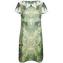 Buy Ted Baker Dondri Tropical Doves Print Dress, Olive Online at johnlewis.com