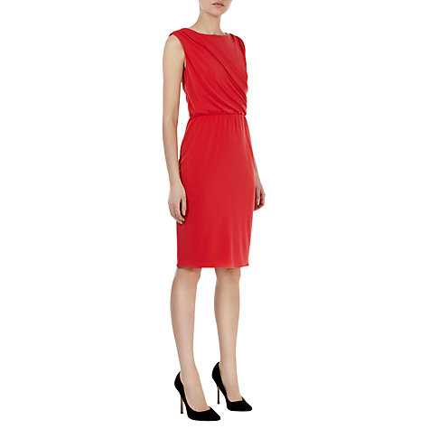 Buy Coast Maris Jersey Dress, Orange Online at johnlewis.com