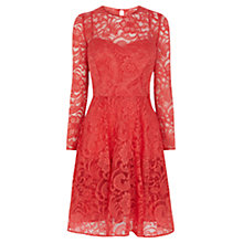 Buy Coast Mallary Lace Dress, Coral Online at johnlewis.com