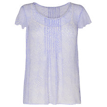 Buy Phase Eight Toulouse Dot Silk Pleated Top, Cornflower/White Online at johnlewis.com